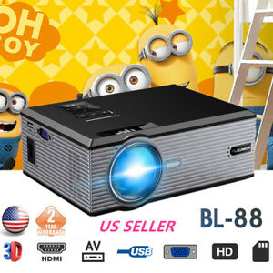 Full HD 1080P LCD LED Projector Multimedia Home Cinema 5000LM AVVGAUSBHDMI US
