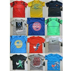 NIKE BOYS  2t * 3t * 4t *  12 T-SHIRTS ~ GREEN GRAY BLUE $246 DRI-FIT TOP