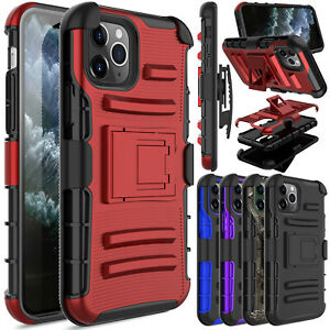 For iPhone 11 12 Pro Max Pro Max Case Shockproof Belt Phone Cover With Kickstand