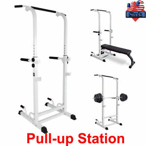 Pull Up Dip Station Home Gym Bar Power Tower Multi Function Stretch Chin Up