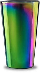 Circleware 76871 Rainbow Fusion Set of 4-16.9 oz Heavy Base Highball Drinking G