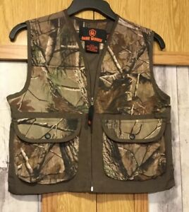 Game Winner Youth Unisex Sz ML Real Tree Camo Light Weight Hunting Vest ..(AC)