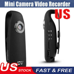 1080P HD 130° Mini Camera Dash Cam Police Body Motorcycle Sport Camcorder NEW