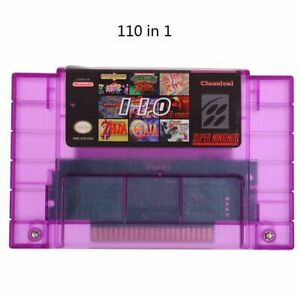 Super 110 in 1 Game Cartridge For SNES 16-Bit Multicart NTSC SNES Super Nintendo