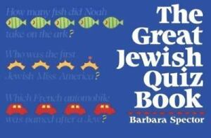 Great Jewish Quiz Book Spector, Barbara Paperback Used - Good