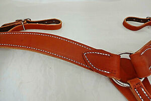 Pony Harness Leather Breast Collar Western Berlin Horse Tack Roping Rodeo New $74.99