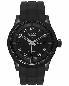 Mido Multifort Automatic Day Date PVD Automatic Men's Watch M0184303705280