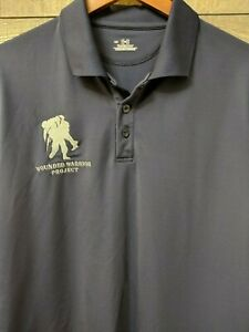 Under Armour HeatGear Wounded Warrior Project Men's L  Golf Polo Shirt B1