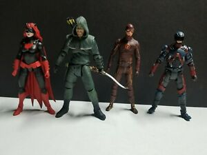 DC COLLECTIBLES Green Arrow OLIVER QUEEN  Flash  CW TV show LOOSE (LOT)