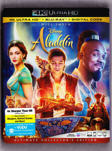 Aladdin 2019 4K Blu-ray Digital Slipcover Brand NEW FREE~First Class Shipping!