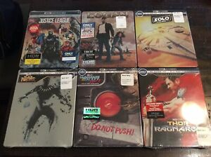 Best Buy Exclusive 4K Ultra HD Steelbook Lot: Solo Thor Black Panther Logan