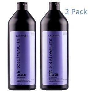 Matrix Total Results So Silver Shampoo 33.8 Oz Pack Of 2
