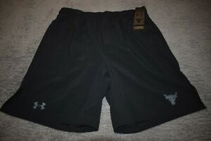 Under Armour Men's Project Rock Shorts 6070 Size XXL (Black) NWT
