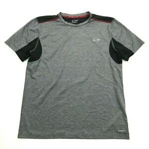 Champion Mens Grey Dry Fit Shirt Size M Medium Adult Gym Tee Vented POWER CORE $5.33