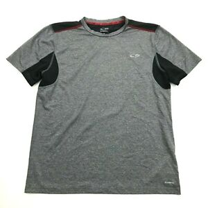 Champion Mens Grey Dry Fit Shirt Size M Medium Adult Gym Tee Vented POWER CORE $17.77