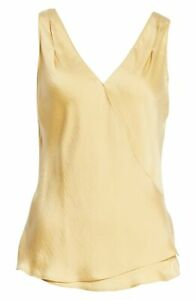14C88 NEW Women's Vince Wrap Hammered Satin Tank, Size Large