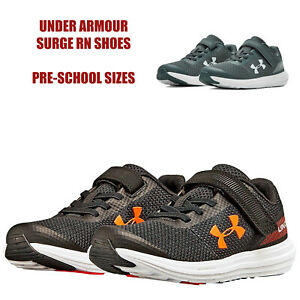 Under Armour Shoes Little Kids Surge RN Boys Elastic Laces Sneakers NEW $46.75