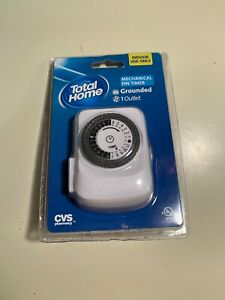 total Home Indor Grounded 24 HOUR Mechanical Pin Timer 769364 CVS Pharmacy A1