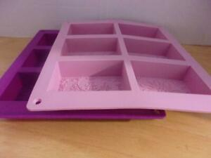 Set of Two Rectangle Silicone Soap Molds