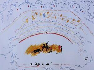 Picasso Pablo:the Bullfight - Lithography Numbered and Signed #500ex