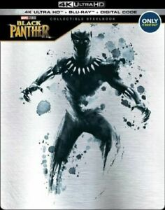 LIKE NEW Black Panther 4k Ultra Hd + Blu-ray Best Buy Steelbook Hdr Avengers