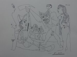 Picasso Pablo:the Gladiators - Lithography Signed #1200ex