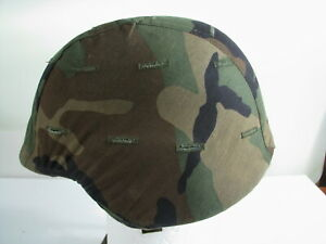 US Military PASGT Ground Troops  Army Helmet  w Woodlands Cover Sz Meduim UNICOR