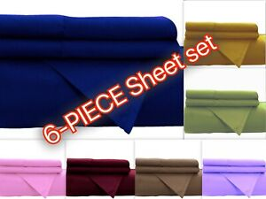 1800 Series Brushed Microfiber 4-pc Sheet Set Deep ppocket + 2 FREE Pillow Cases