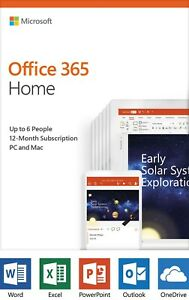 Microsoft Office 365 Home  12-month subscription up to 6 people PCMac