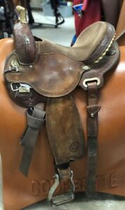 "Circle Y 14"" XP B1 Shooting Star Barrel Saddle #1537 Wide Tree Good Condition"