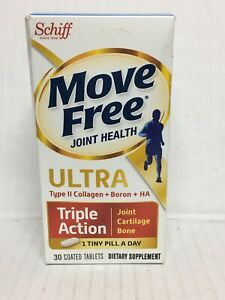 A huff Move Free Joint Health Ultra Triple Action 30 Tablets Exp-12/2019+