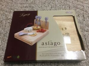 NEW The Asiago Cheese Set Cutting Board by Picnic Time Wood Wooden