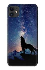 Wolf Howling Million Star Phone Case for iPhone 12 11 Pro XS Max XR X 8 7 6 Plus $12.99