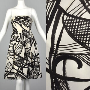 Spring 2007 Giambattista Valli Strapless Dress Abstract Print Runway Designer