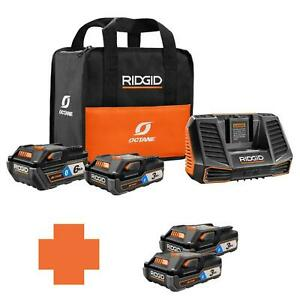 18Volt OCTANE Battery and Charger Kit 6.0 Ah Battery Charger Durable Orange
