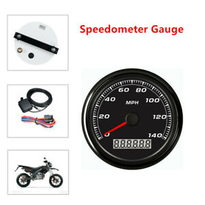 85MM 3 2 5 GPS 140MPH Speedometer Gauge Car Motorcycle Backlight 3.9M Cable $66.74