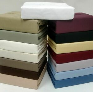 3 PC Duvet Set 1000 Thread Count Egyptian Cotton Over Sized Queen Solid Colors