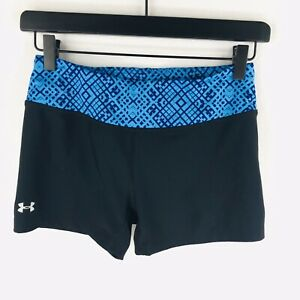 Under Armour Womens Size Small Black Heatgear Fitted Athletic Shorts