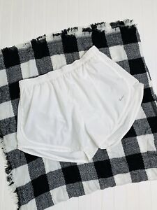 Nike Solid White Tempo Running Shorts Women's XL
