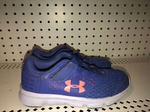 Under Armour GPS Rave RN AC Girls Baby Toddler Athletic Shoes Size 13K Blue Pink