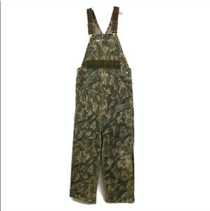Vintage Carhartt Overalls Camouflage 34 x 29 Lined Duck Bird Squirrel Hunting