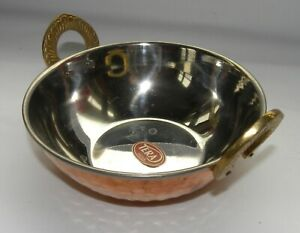 Traditional Tera Copper Kadai Serving Dish Rice Curry Food Bowl New $9.00