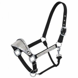 Tough-1 Bronc Nose Nylon Halter With FoilCrystal Overlay