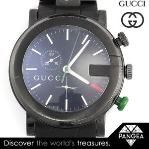 Gucci G-Chrono Chronograph YA101331 Black PVD Stainless Steel 44mm Mens Watch