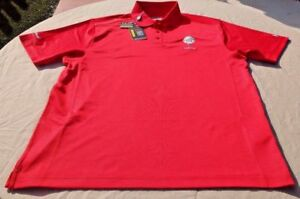 UNDER ARMOUR GOLF POLO SHIRT NWT Size L RED HEAT GEAR UPF 50+ LOOSE Ballenisles