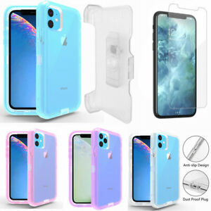 For iPhone 11 11 Pro Max Transparent Defender Case w Screen amp; Clip Fits Otterbox $9.99