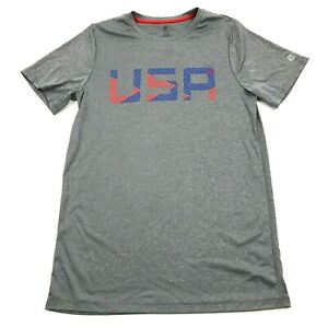 Champion Grey Dry Fit Shirt Size Extra Large Youth USA Tee Lightweight Active T $13.77