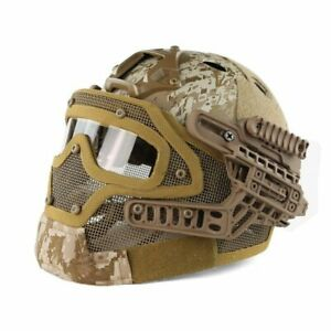 Tactical Airsoft Paintball Fast Helmet Goggles G4 System Full Face Mask AOR1 $108.89