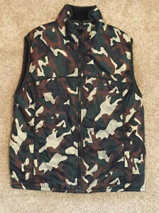 SPORTRAX CAMO FLEECE LINED VEST ACTIVE PERFORMANCE GEAR SIZE 10-12