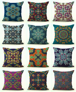set of 10 mandala yoga meditation cushion covers decorative pillow